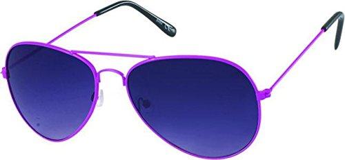Chic-Net Sonnenbrille Unisex Pilotenbrille Pornobrille getönt Rahmen bunt 400UV Fliegerbrille pink
