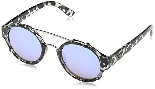 Quay Australia Unisex IT`S A SIN Sonnenbrille, Schwarz (BLKTO/BLUE MIRR), One size (Herstellergröße: Einheitsgröße)