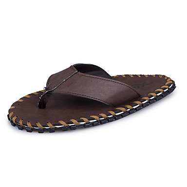 Slippers & amp da uomo;Sandali estate luce Suole PU casual testa di moro nero sandali US9.5 / EU42 / UK8.5 / CN43