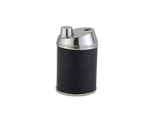 Unbekannt Tischfeuerzeug Jean Claude Jet Lederoptik schwarz/Nickel satiniert + Firelighter