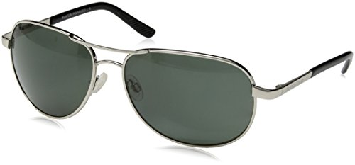 Suncloud Polorized Optics AVIATOR Metal Frame Silver /Lens Gray