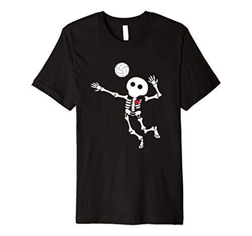 VOLLEYBALL Skelett Halloween Shirt