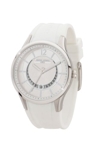 Jorg Gray Women's Quartz Watch with White Dial Analogue Display and White Rubber Strap JG1400-12