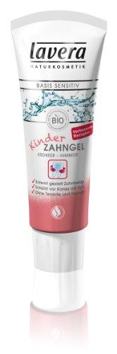 Lavera Kinder Zahngel Erdbeer-Himbeer, 2er Pack (2 x 75 ml)