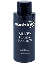Nushine plateado solución 100 ml – permanente placa plata pura en llevar plateado, latón,