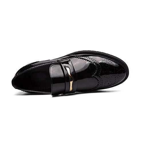 HILOTU Oxford De La Moda De Los Hombres Personalidad Casual Tallada En Cuero Zapatos Brogue Calzado...