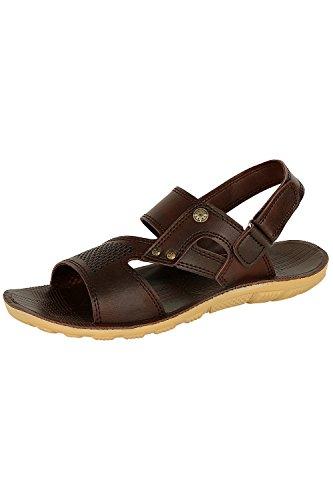 Tempo Men's Brown Synthetic Leather Sandal-8