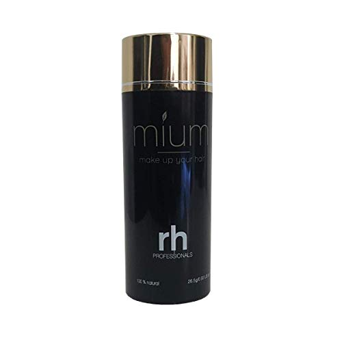 MIUM ® 26.5 G Premium Schütthaar Streuhaar Haarfasern - Sofort Haarverdichtung bei lichtem oder feinem Haar, 100% Natur, XXL (Dunkelbraun) -