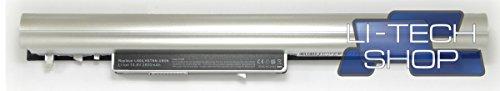 LI-TECH Akku 2600mAh Silber für HP Pavillion TOUCHSMART 15-N263SA Nuova 38 Wh