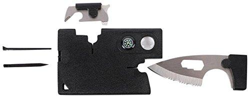 GEO-VERSAND Kreditkarten Multitool - Neu mit Messer und Kompass, mehrfarbig, 100411