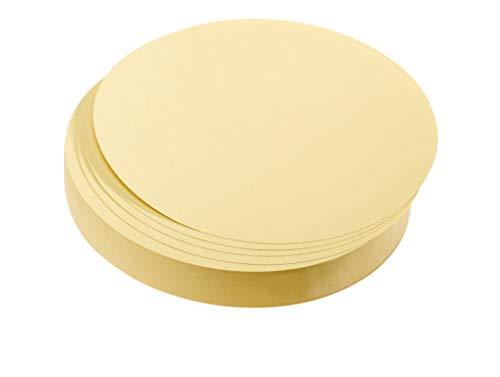 Franken Moderationskarten Kreise/UMZ 10 04 (9,5cm gelb 130 g/qm) 500 Stück, gelb (Gelber Kreis Papier)