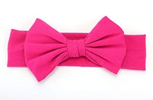 Fang-denghui, 2019 7 Zoll Big Bows Stirnband Für Mädchen Feste Große Haar Bögen Elastischer Turban Kopf Wickelt Baby Kinder Top Knot Hairband (Color : Rose) (Kopf Wickelt Für Baby Mädchen)