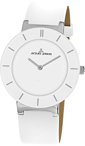 Jacques Lemans Damen-Armbanduhr Monaco Analog Quarz Leder 1-1867B