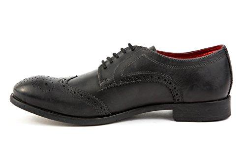 Base London Herren Budapester Business Schuhe Gr. 43 Schwarz