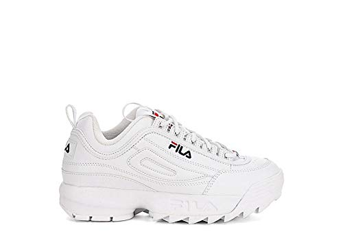 FILA 1010567 Disruptor Kids Zapatillas DE Deporte Junior Unisex White 35