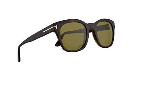 Tom Ford FT0676 Eugenio Sonnenbrille Dunkel Havana Mit Grünen Gläsern 52mm 52N FT676 TF 676 TF676