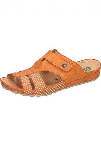 letten Polka Dots 701206 Leder Clogs Sandalen, Schuhgröße:38;Farbe:Orange (Orange Polka Dots)