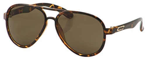 Perry Ellis Mens Aviator Sunglasses Includes Perry Ellis Pouch, 100% UV Protection