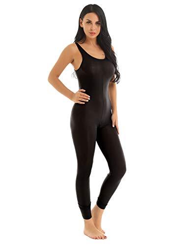 inlzdz Damen Dessous Ouvert Body Transparent Bodysuit Ganzkörper Catsuit Sexy Unterwäsche Negligee Reizwäsche Jumpsuit Clubwear Overalls Schwarz One Size -