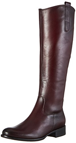 Gabor Shoes Damen Fashion Stiefel, Rot (25 Wine (Effekt)), 39 EU (Glattleder-stiefel)