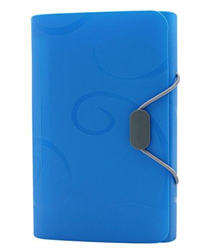 cuddty 13Taschen Akkordeon Datei Ordner Displayschutzfolie Fächermappe Dokument Ordner Organizer Display Buch sortiert Farben A6Größe, 17,3x 10,9cm A6 blau (Rezept-buch Veranstalter)
