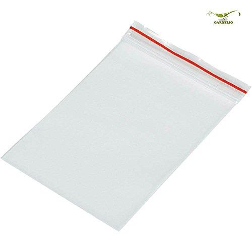 Druckverschlussbeutel Ziptüte aus PE-LD Material transparent 100mm X 100mm / 50mµ / im 100`er Pack / 100 Stück