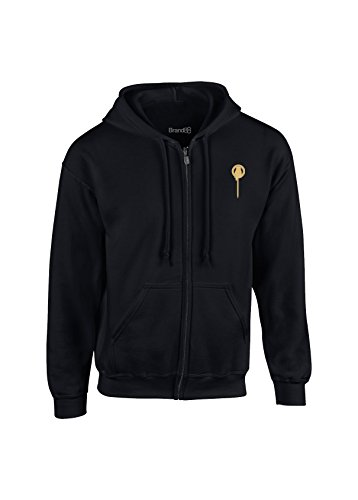 Preisvergleich Produktbild The King's Hand, Kinder Kapuzen Jacke mit Reißverschluss, Schwarz/Gold, 5-6 Jahre