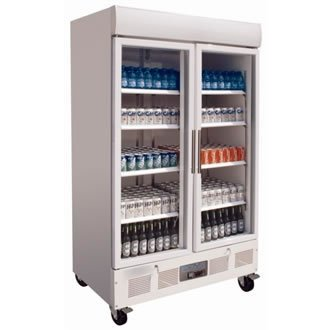 Polar cd984 Glas Double Door Display Kühlschrank, 944 L