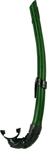 Cressi Corsica - Tubo Respiradores para Apnea, Snorkeling ,Pesca Bubmarina , Buceo. Color Negro/Verde