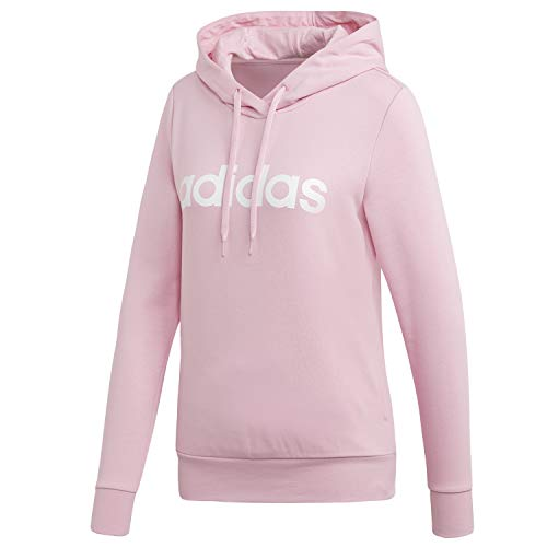 adidas Damen Essentials Linear Open Overhead Hooded Sweatshirt, True Pink/White Größe S