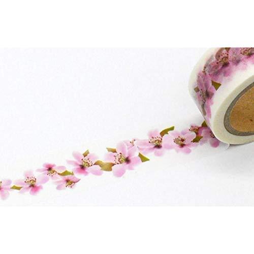 nd 1 Rolle = 20mm x 7 mt Pfirsichblüte Blumenmuster Japanischen Washi Dekorative Klebeband DIY Masking Paper Tape Label Aufkleber großhandel ()