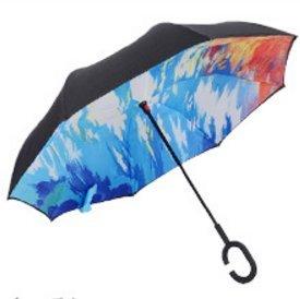 Hapahabie - Paraguas Reversible de Doble Capa