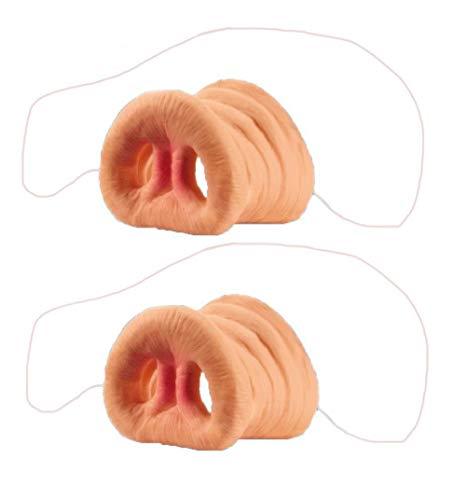 Kostüm Für Schwein Erwachsene Peppa - 2 Stücke Schwein Nase Cosplay Schwein Schnauze Kostüm Tier Maske mit Gummiband für Party Prop