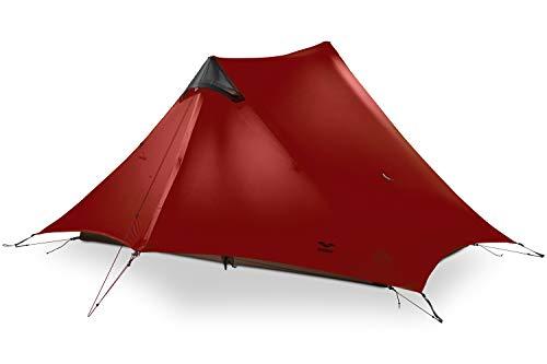 MIER Ultraleichtes Zelt 3-Jahreszeiten Rucksackzelt Schnelles Setup für 1 oder 2 Personen Camping, Klettern, Wandern (Trekkingstöcke Nicht im Lieferumfang enthalten)