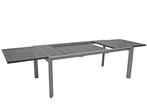 DEGAMO Ausziehtisch MARCIANA XXL 200/300x104cm, Aluminium grau