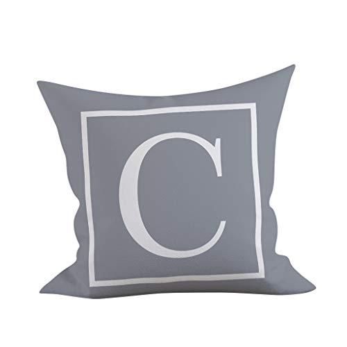 Momoxi Kopfkissenbezug,45x45 cm Kinder Zimmer Dekoration Brief Kissen Englisch Alphabet Pillowcases -