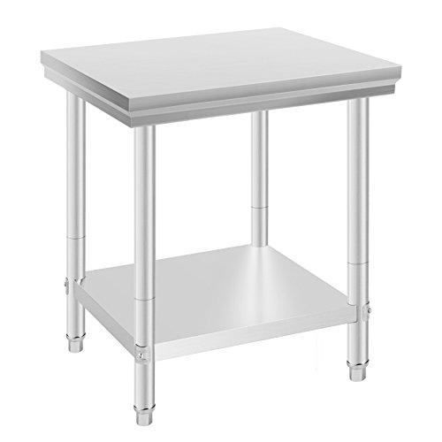 VEVOR Arbeitstisch 24 x 30 Inch Edelstahl Arbeitstisch Arbeitstisch Küche Stainless Steel Work Table (24 x 30 Inch)