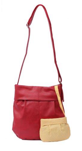 zwei Mademoiselle M10 Shopper Umhängetasche 31 cm Red (Rot)