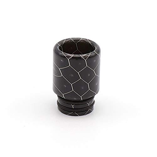 EzVapor Drip-Tip 510 Mundstück Schwarz Black Bienenwabe Resin Harz Verdampfer Atomizer E-Zigarette