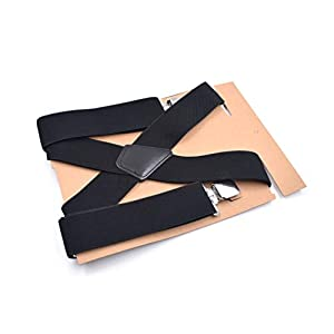 JUWOJIA Männer Wild Fashion Farbe Armband Hosenträger Mit Anzug Hose Elastisch Verstellbarer Hose Halteklammer (5 cm Breit)