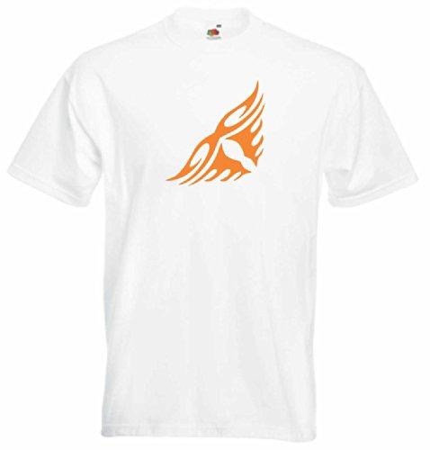 T-Shirt Herren Augen des feuers Weiß