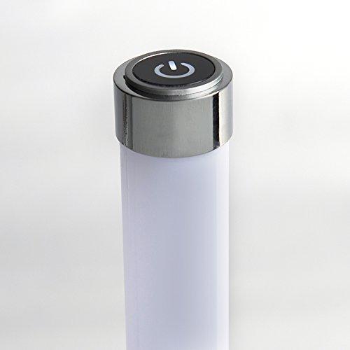 QAZQA Modern Stehleuchte / Stehlampe / Standleuchte / Lampe / Leuchte Line-up LED Chrom Dimmer / Dimmbar / Innenbeleuchtung / Wohnzimmer / Schlafzimmer / Küche Kunststoff / Metall / Rund inklusive LED - 7
