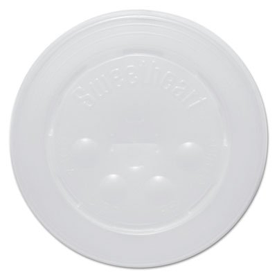 Polystyrene Cold Cup Lids, 16-22oz Cups, Translucent, 125/Pack, 16 Packs/Carton