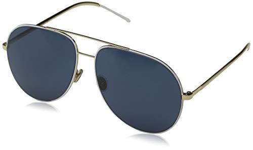 Dior Damen DIORASTRAL KU B4E Sonnenbrille, Weiß (White Gold Blue), 59