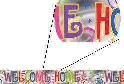 Preisvergleich Produktbild 1 BANNER WELCOME HOME Girlanden NR.126 L:3,66m B:13cm WILLKOMMEN ZUHAUSE