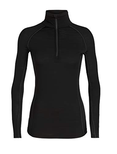 Icebreaker Damen 150 Zone LS Half Zip Funktionsshirt, Black, XL -