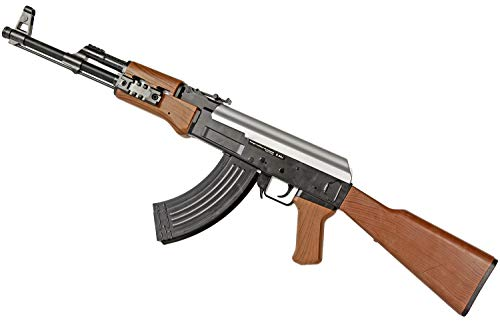 Stabile Softair Softair-Gewehr AK47 schwarz braun ca. 87cm lang 6 mm unter 0,5 Joule ab 14 J.