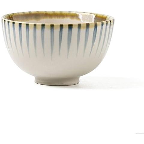 cuenco de arroz japonés de la vendimia creativa del tazón de cereales de desayuno de comer un plato de utensilios de comer mijo