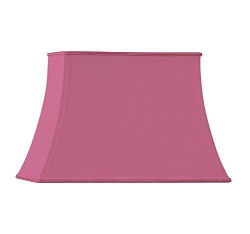 Lampenschirm in Form einer Pagode, rechteckig, Ø 25 x 15/18 x 10/17, Fuchsia - Rechteckige Lampenschirm