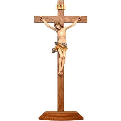 Holyart Tisch Kruzifix Grödnertal Ahornholz, 65 cm (25.61 inc.)